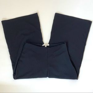 Lavender Brown Cropped Wide Leg Knit Pant Navy